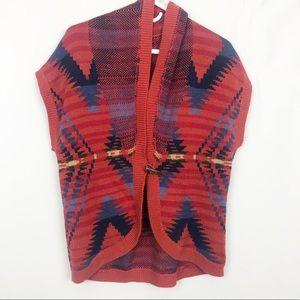 Chaps Southwestern Print Cardigan Sweater
